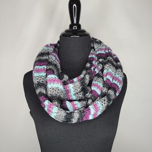 Vanity Multicolored Knit Infinity Scarf